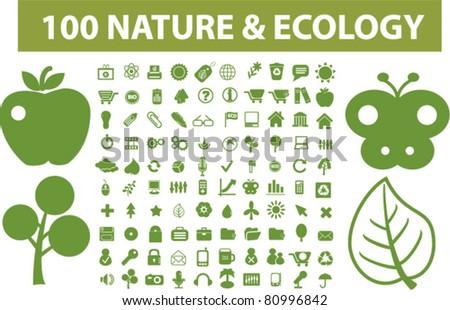 100 nature   ecology icons