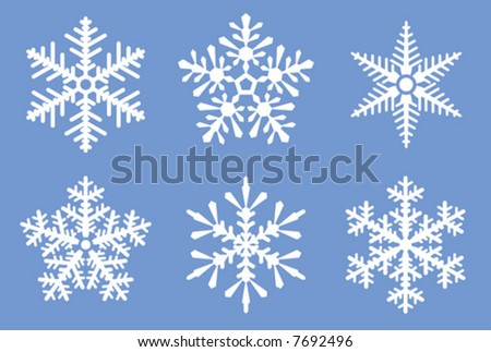 2nd set of beautiful vector snowflakes. See also hi-res JPEG version in my portfolio.