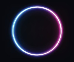 neon circle transparent geometric shape circle for banner