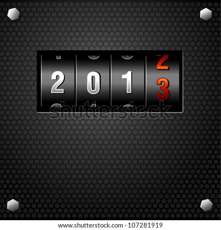 2013 New Year Analog Counter