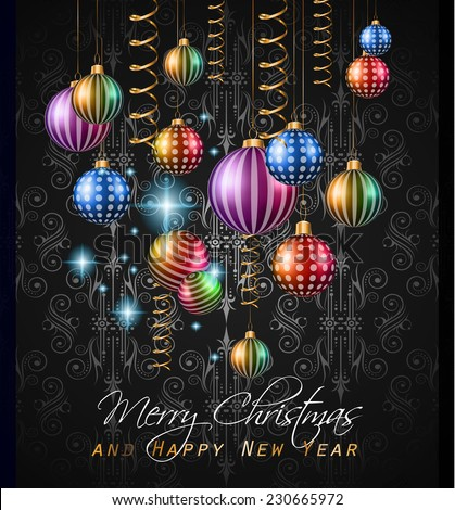 2015 New Year and Happy Christmas background for your flyers invitation party posters greetings card brochure cover or generic banners