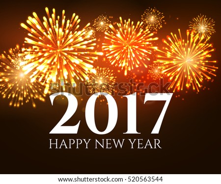 2017 new year background banner abstract firework poster xmas greeting wallpaper holiday christmas celebration