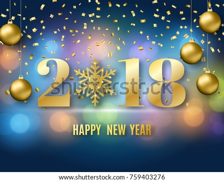 Premium happy new year 2018 greeting card golden design download 2018 new year background for holiday greeting card invitation party flyer poster stopboris Choice Image