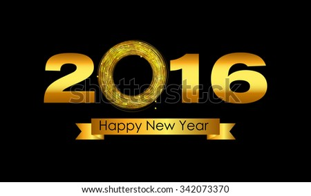 2016 New Year Background. Vector Illustration EPS10