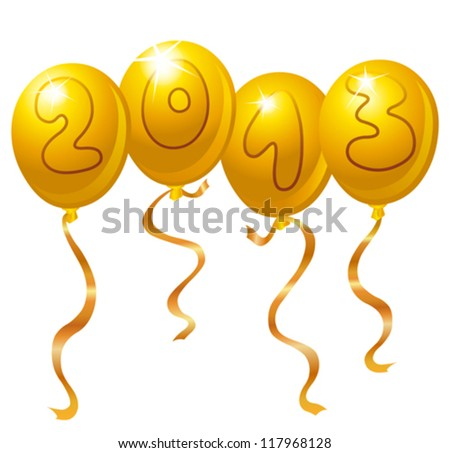 2013 New Year balloons