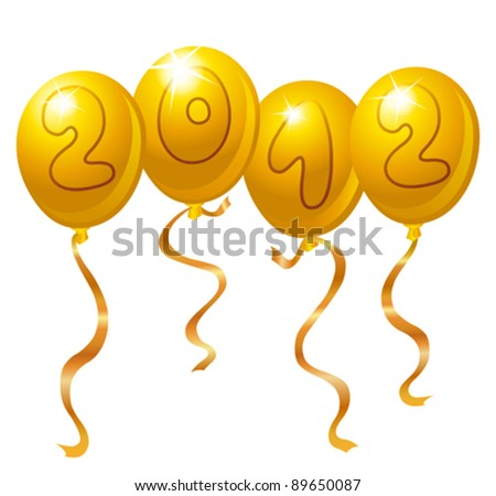 2012 New Year balloons