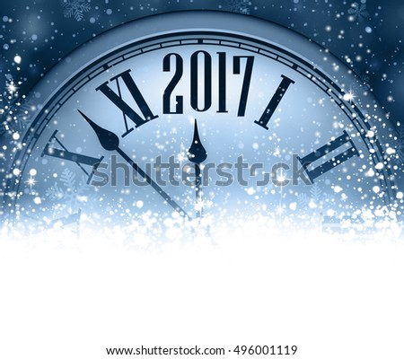 2017 new year blue background