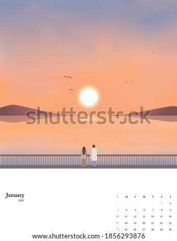 2021 new year calendar set 01