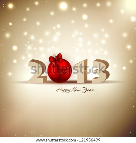 2013 New Year Celebration Background with Glitter