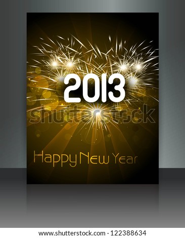 2013 new year celebration colorful holiday card vector #122388634
