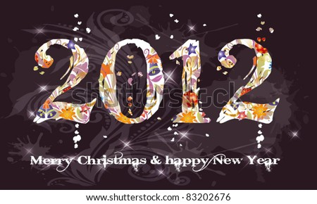 new year 2012  christmas  text