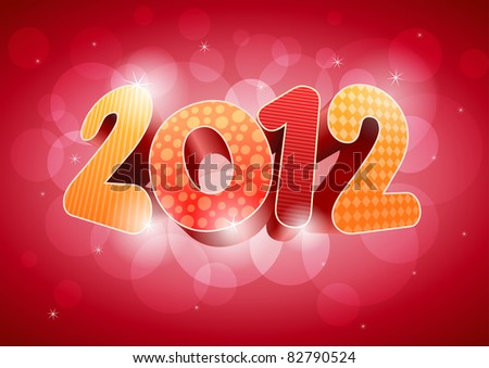 2012 New year design template. All elements are layered separately in vector file. Easy editable. EPS10.