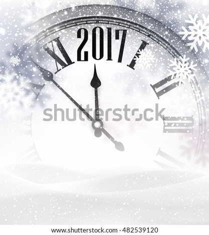 2017 new year gray background