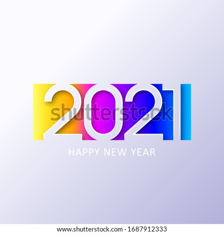 2021 new year. Happy new year. 2021 new year. Happy new year design. Colorful holiday background for calendar or web banner. 2021 celebration. Light 2021