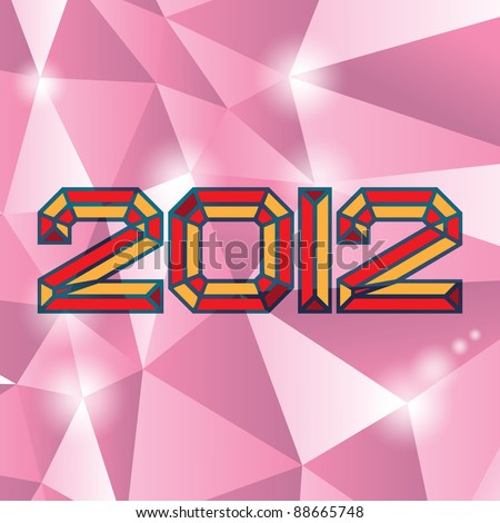 2012 new year on diamand
