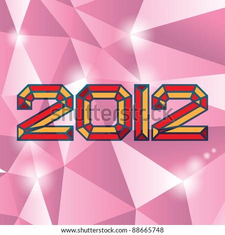 2012 new year on diamand