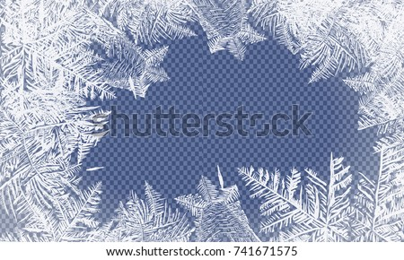 2018 New Year on ice frosted background. RGB. Global colors. One editable gradient is used for easy recolor. Vector illustration. icy Christmas background. snow and icicles stock photo