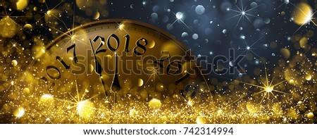 New Year's Eve 2018. Vector illustration