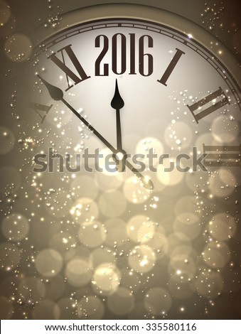 2016 new year sepia background