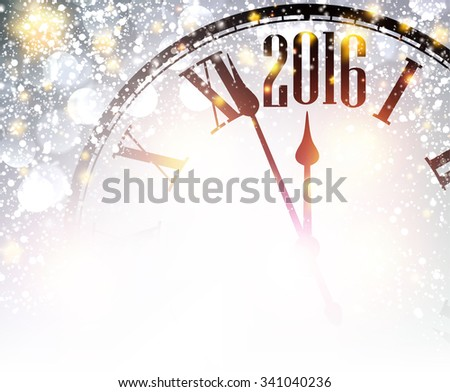 2016 new year shining