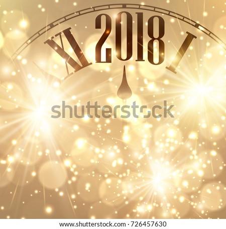 2018 new year shining