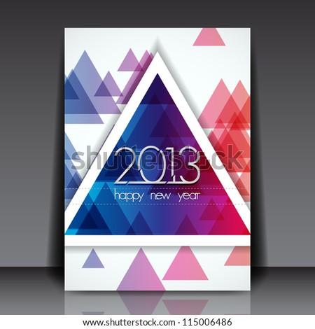 2013 New Year Vector Editable Flyer Template