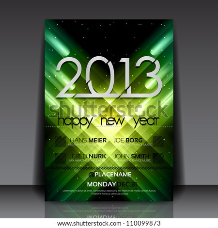 2013 New Year Vector Flyer Template