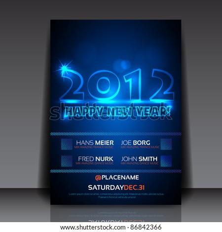 2012 new year vector flyer