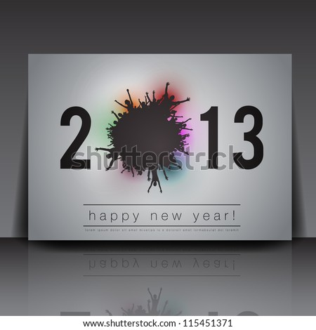 2013 New Year Vector Flyer Template | Editable EPS10 Design