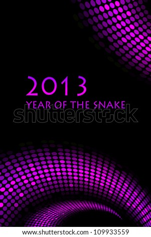 """2013 new year - vector """"snake"""" background"""