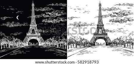 night and day landscape with