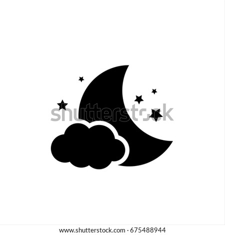 \Night icon in trendy flat style isolated on background. \Night icon page symbol for your web site design \Night icon logo, app, UI. \Night icon Vector illustration, EPS10.