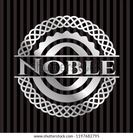 Noble silvery badge or emblem