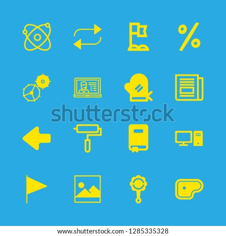 16 nobody icons with laptop and rattle in this set