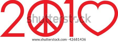 2010 not war make love logo