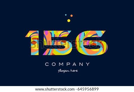 156 number digit numeral logo