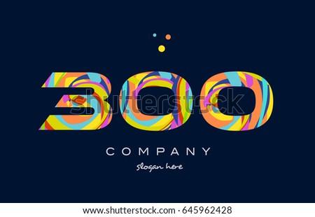 300 number digit numeral logo