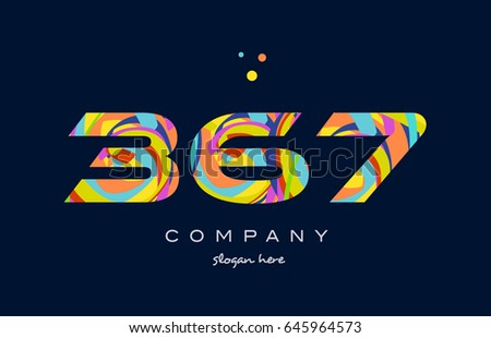 367 number digit numeral logo