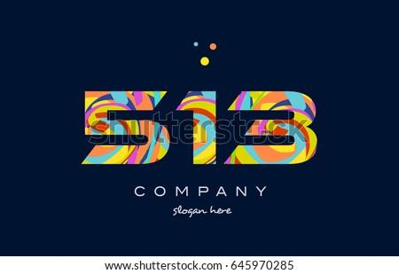513 number digit numeral logo