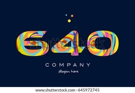 640 number digit numeral logo