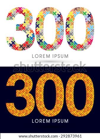 300 number  font  designed