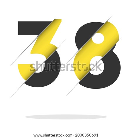 38  number logo design with a