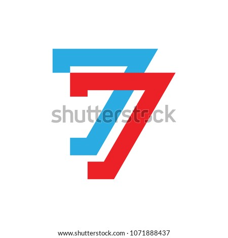77 number logo vector  seventy