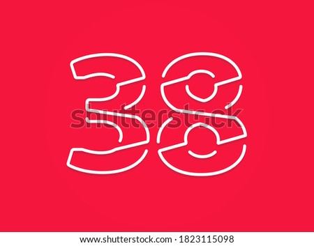 38 number modern trendy