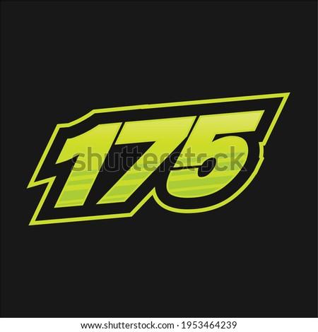 175 number racing design vector