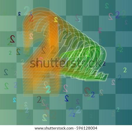 2 number texture vector