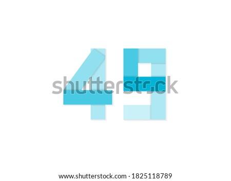 49 number  vector logo  paper