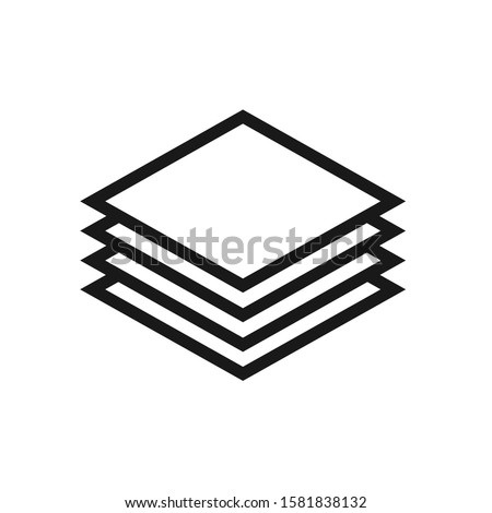 [object Object]Layer Icon Vector Sign In White Background