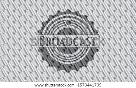 [object OBroadcast silver emblem. Scales pattern. Vector Illustration. Detailed.bject]