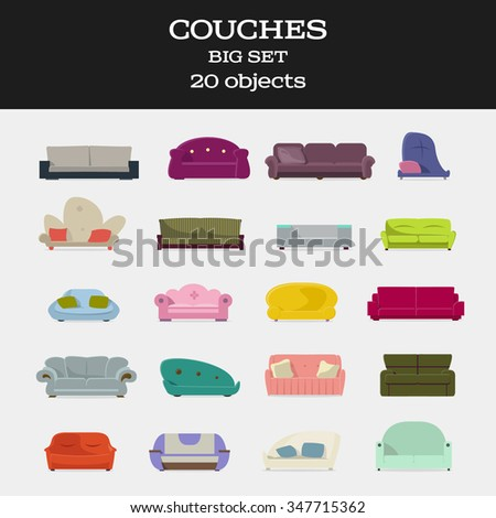 20 objects couches big set